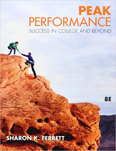 Peak performance success in college and beyond sharon ferrett peak performance success in college and beyond 8th edition fandeluxe Gallery