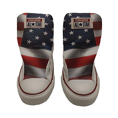 Converse Customized Chaussures Coutume (produit artisanal) drapeau des etats unis