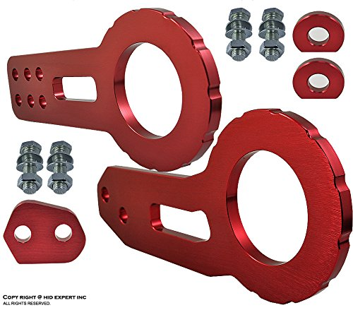 ICBEAMER Racing Style Anodized CNC Aluminum Tow Hook Kit Come with Front and Rear Tow Hook Screw [Color Red] - Grand Cherokee Tow Hooks