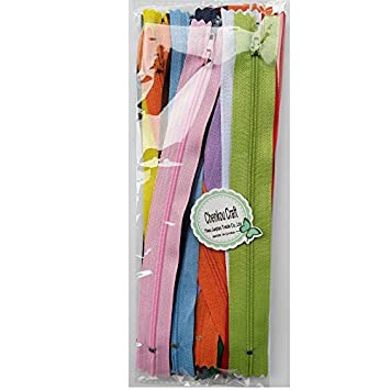 Beige Upick Color 44pcs Nylon Coil Zippers Tailer Sewing Tools Craft 11 Colors Total Length 9 Inche Zipper Size 8 inch