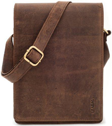 vintage estilo el cuero Dover CrazyVinkat búfalo en de bandolera auténtico bolso LEABAGS Nuezmoscada Sgpqvw