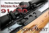 Brass Stacker See Thru Scout Scope Mount for Mosin Nagant 9130, Outdoor Stuffs