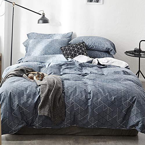 geometric bedding sets queen navy