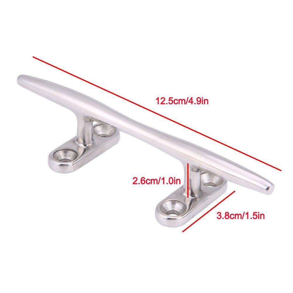 Bootsklampe 5-Zoll-Hochleistungs-Edelstahl-Hochleistungs-Bootsklampe mit hohler Basis Festmacherdock-Deck-Seilklampe
