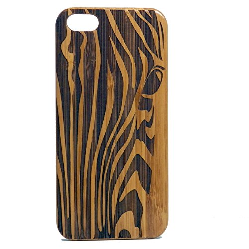 Zebra iPhone 6 or iPhone 6S Case. EcoFriendly Bamboo Wood Cover. African Animal Print. Stripe Pattern. Equine Spirit Animal Totem Guardian