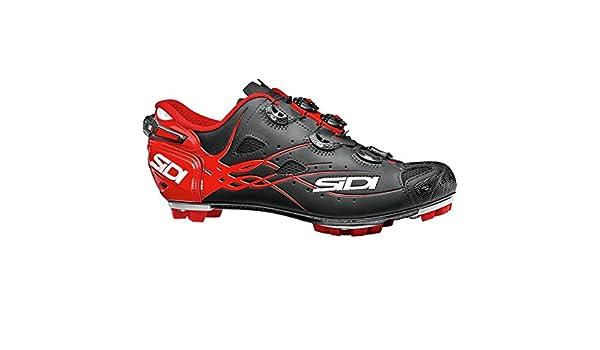 Zapatillas MTB Sidi Tiger Matt Carbon SRS Matt Negro-Rojo: Amazon.es: Zapatos y complementos