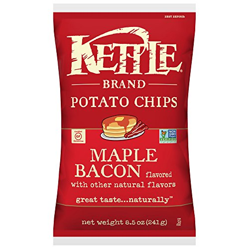 - Kettle Brand Potato Chips, Maple Bacon, 8.5 Ounce Bag