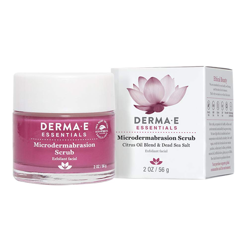 DERMA E Microdermabrasion Dead Sea Salt Scrub, 2oz by DERMA-E