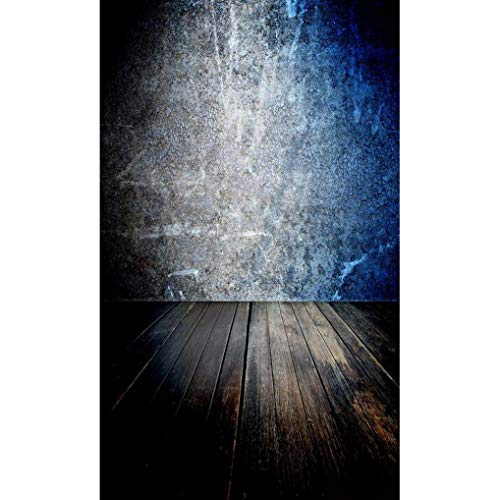 vmree Indoor Photographic Studio Backdrop, 3D Lifelike Plank Brick Photo Shooting Background Props Wall Hanging Screen Post-Production Curtain Folding & Washable Art Cloth 3x5FT. (H) -