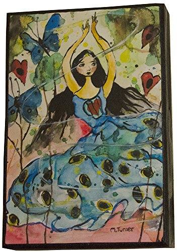 butterfly-peacock-dancer-painting-wall-art-on-wood-6x9-ready-to-hang-small