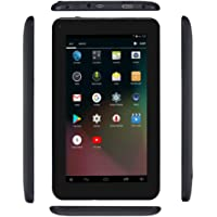 "Haehne 7"" Tablet PC, Google Android 6.0 Quad Core, 1G RAM 16GB ROM, Cámaras Duales, 1024 x 600 Pantalla, WiFi, Bluetooth, HDMI, con Funda de Cuero, Negro"