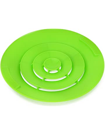 COM-FOUR® Tapa de protección de cocción excesiva 3 en 1 en varios colores