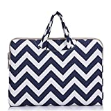 Funny live 13-13.3 Inch Wavy Lines Canvas Portable Laptop Sleeve Carrying Case Bag for MacBook Pro 13.3-inch Retina/MacBook Air 13''/13.3-inch ASUS Dell HP Chromebook Noteb (blue)