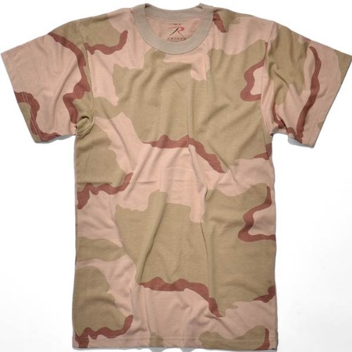 Rothco T-Shirt/Tri Color Desert Camo, X-Large