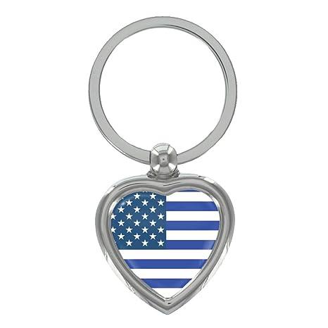 Amazon.com: Azul bandera de Estados Unidos Metal Forma De ...
