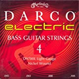 Martin D9700L Nickel Wound Longscale Electric Bass Strings, Light