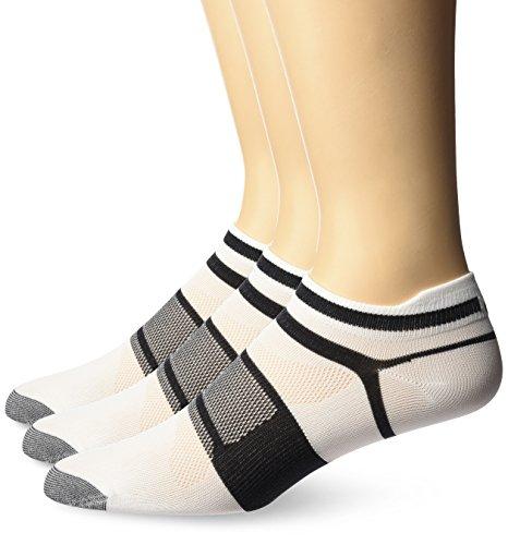 Asics Kayano Socks - ASICS Quick Lyte Single Tab (3 Pack), White/Black, Medium