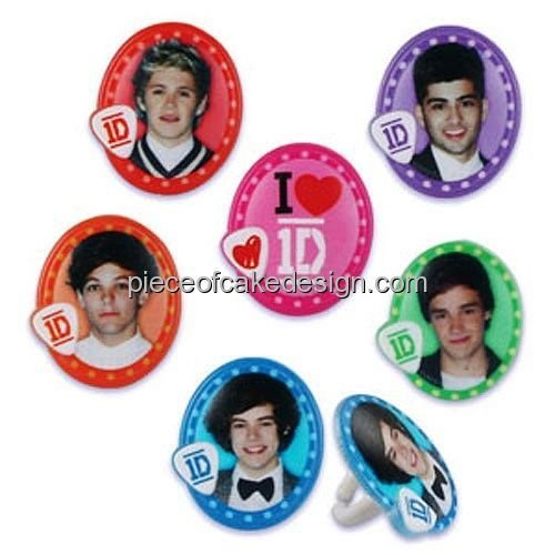 12 ~ One Direction Cupcake Rings ~ Cupcake Topper ~ Cake Decoration -