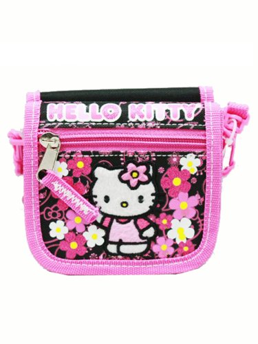 String Wallet - Hello Kitty - Flowers - Mini Purse Bank