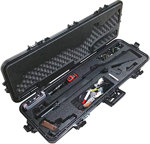 Case Club Pre-Made Tactical Shotgun Waterproof Case with Accessory Box and Silica Gel to Help Prevent Gun Rust (Remington 870 Case)