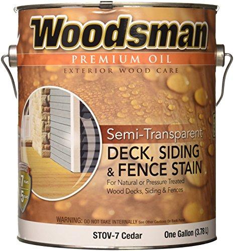 Gal Cedar Oil (True Value STOV7-GAL Woodsman Cedar HSE Oil Oil Deck and Siding Stain, 1-Gallon)