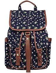 Imiflow Casual Backpack Purse School Daypacks Travel Rucksack Girls Women
