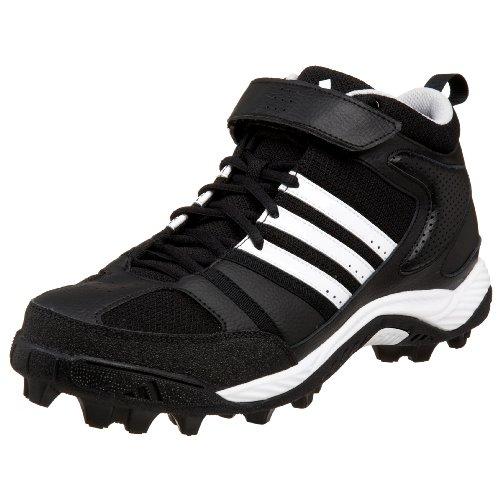 adidas Men's Corner Blitz 8 MD Mid Football Cleat,Black/White/Silver,13 M
