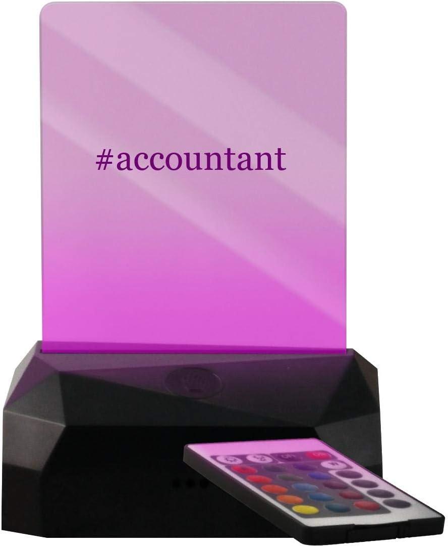 #Accountant - Hashtag geführt Usb Rechargeable Edge Lit Sign
