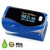 URBEST Finger Pulse Oximeter, Portable Pulse Oximeter Instant Read Digital Display Fingertip Oxygen and Pulse Sensor with Alarm SPO2 for Home, Hospital