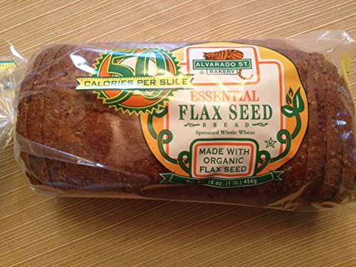 Alvarado St. Bakery Essential Flax Seed Bread, Pack of 2, Sprouted Whole Wheat