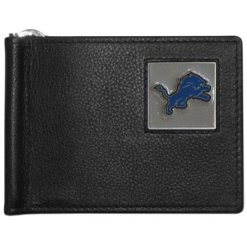 NFL Detroit Lions Leather Bill Clip Wallet