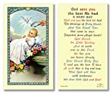 25PC, God sent You the Best - Baptismal Holy Card