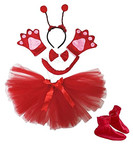 Petitebella Headband Bowtie Tail Gloves Skirt Shoes 6pc