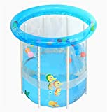 LQQGXL,Bath Child Inflatable Bathtub Inflatable Inflatable Pool Thicker Thermal Pool Collapsible Ocean Pool Pool Water Playground Inflatable bathtub ( Size : L )