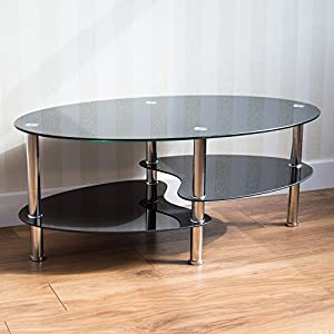 home discount cara black glass coffee table with chrome legs kitchen home. Black Bedroom Furniture Sets. Home Design Ideas