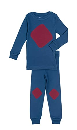 Jack & Becky Admiral Pajamas With Wine Color Wave Shape 4T