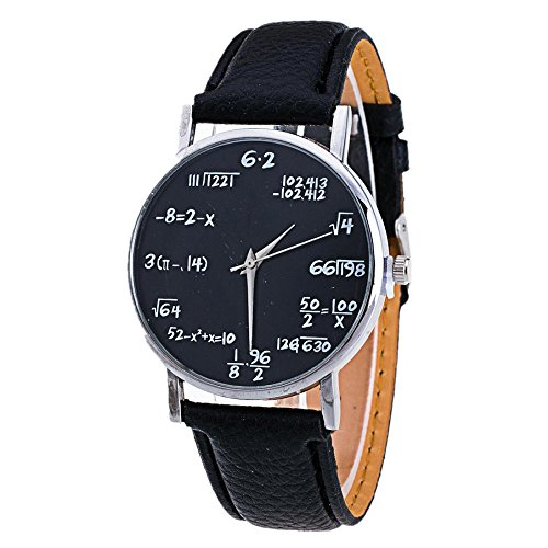 Women Simple Quartz Watches,SINMA Vogue Math Formula Equation Dial Dress Wrist Watch (Black)