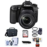 Canon EOS 80D DSLR Camera Body Kit EF-S 18-135mm F3.5-5.6 IS USM Lens, Black - Bundle Camera Bag, 32GB Class 10 SDHC Card, 67mm Filter Kit, Cleaning Kit, SD Card Reader, Mac Software Pack