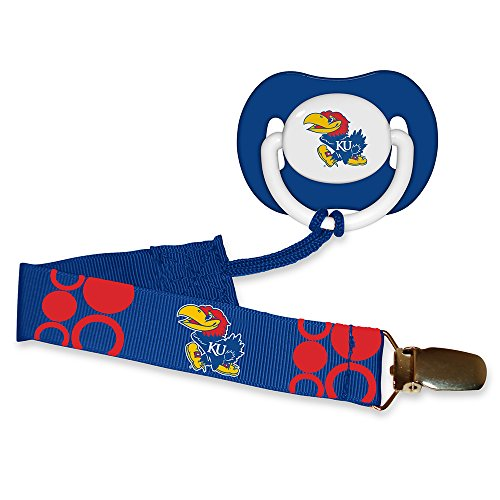 Baby Fanatic Pacifier with Clip - Kansas, University of