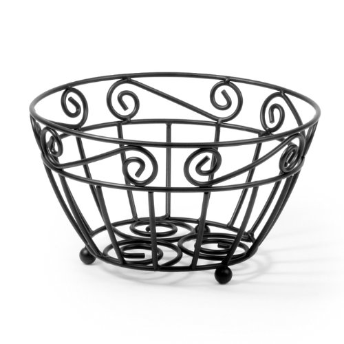 Fabulous Fruit Basket (Spectrum Diversified Scroll Fruit Bowl, Black)