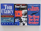 Tom Clancy 3 Book Paperback Set (Jack Ryan Series:, The Hunt For Red October, Patriot Games, Clear and Present Danger)