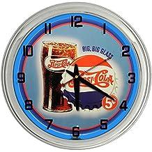 Vintage Pepsi-Cola Blue Neon clock from Redeye Laserworks