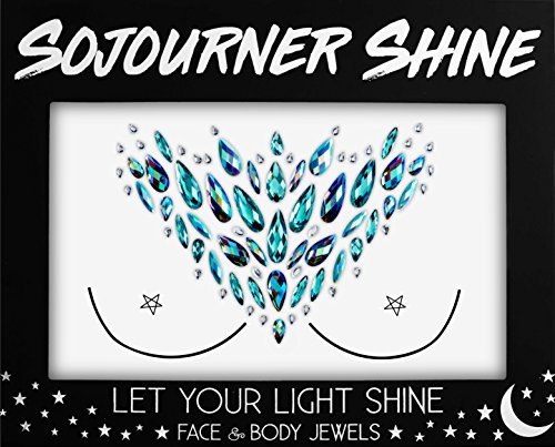 Face Jewels Glitter Gems Rhinestones – Eye Body Jewels Gems | Rhinestone Stickers | Body Glitter Festival Rave & Party Accessories by SoJourner (Witching Woman)