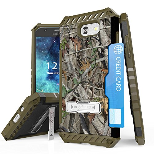 Samsung Galaxy Sol 2 Case - Tri-Shield [Impact Resistant] [Military Grade Drop Tested] Heavy Duty Rugged Armor Kickstand Cover - [Real Tree Camo] and Atom LED