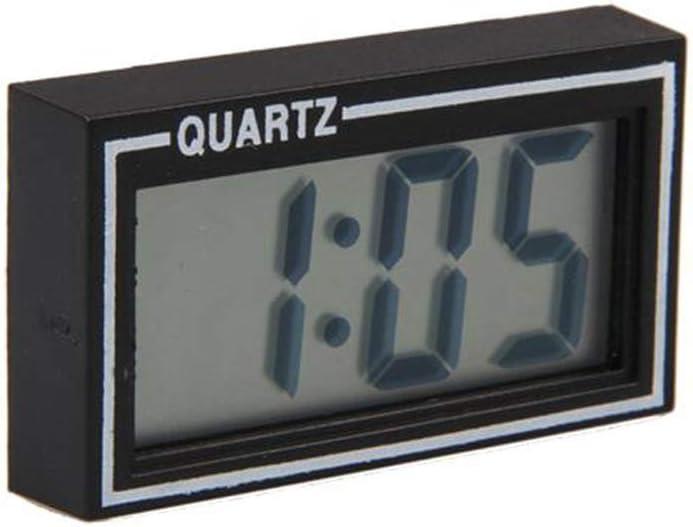Tableau de bord de voiture LCD Mini tableau de bord LCD de voiture automatique num/érique Num/érique Date Heure Calendrier Horloge Noir Cr/éatif et utile