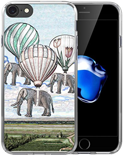 Case for iPhone 6S Plus Elephant/IWONE Designer Non Slip Rubber Durable Protective Skin Transparent Cover Shockproof Compatible for iPhone 6/6S Plus + Creative Elephant Vintage Paintings Print Animal