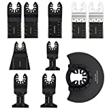 10Pack Wood/Metal Oscillating Multi Tool Quick Release Saw Blades for Dewalt, Craftsman, Ridgid, Milwaukee, Rockwell, Ryobi and More (10pack)