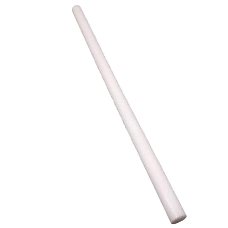 13 Natural White Polyoxymethylene Acetal Rod 6pcs 15mm Dia