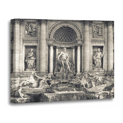 TORASS Canvas Wall Art Print History The Trevi Fountain Italian Fontana Di Architecture Artwork for Home Decor 20