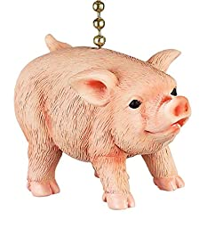 Farmers Pig Decorative Ceiling Fan Light Dimensional Pull Clementine Design
